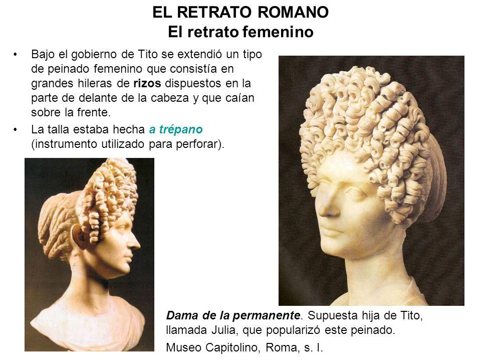 Bajo el gobierno de Tito se extendió un tipo de peinado femenino que consistía en grandes hileras de rizos dispuestos en la parte de delante de la cab
