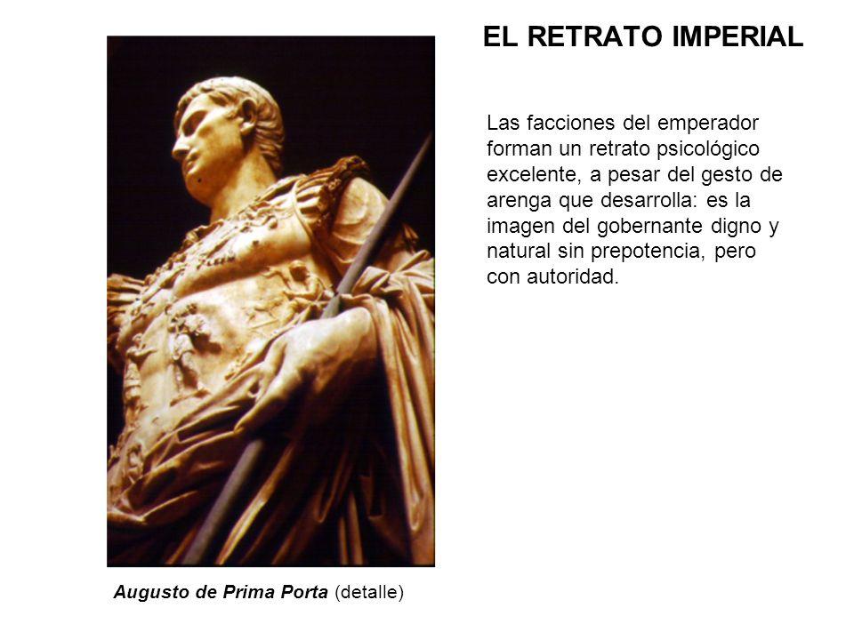 Las facciones del emperador forman un retrato psicológico excelente, a pesar del gesto de arenga que desarrolla: es la imagen del gobernante digno y n