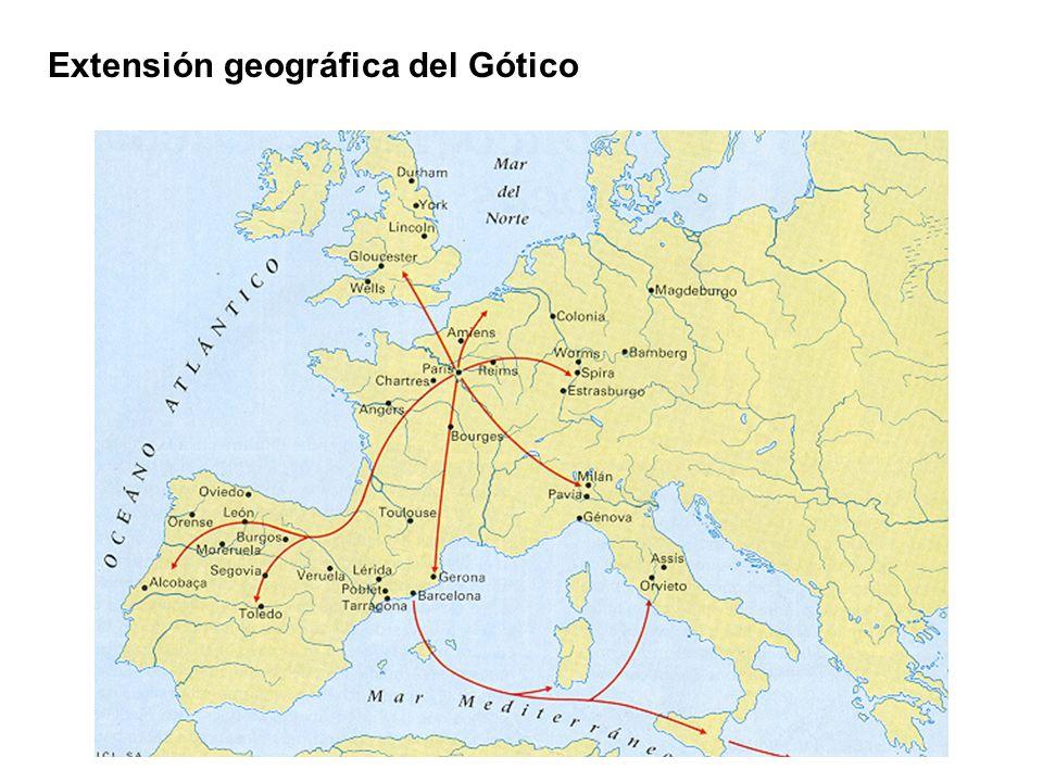 Extensión geográfica del Gótico