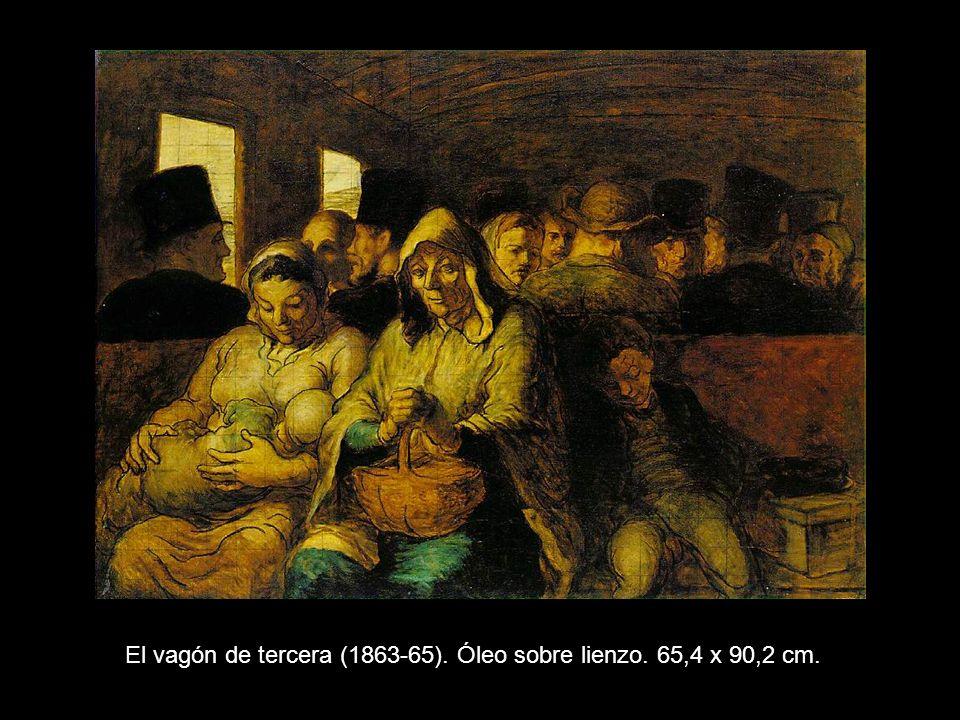 El vagón de tercera (1863-65). Óleo sobre lienzo. 65,4 x 90,2 cm.