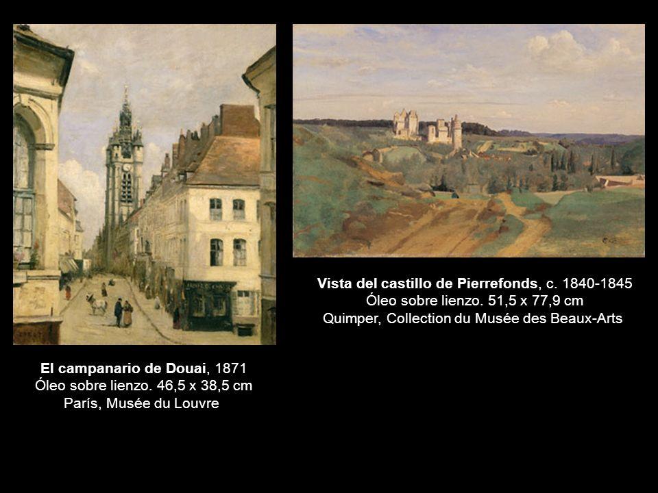 El campanario de Douai, 1871 Óleo sobre lienzo.