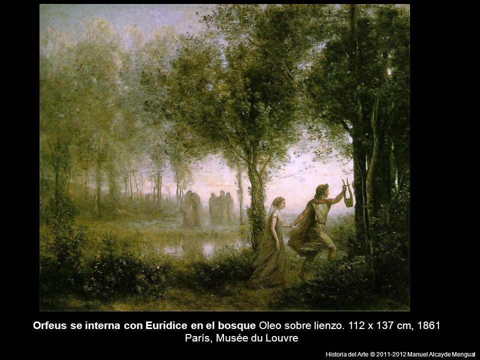 Orfeus se interna con Eurídice en el bosque Oleo sobre lienzo.