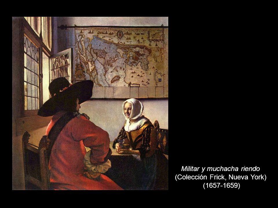 Militar y muchacha riendo (Colección Frick, Nueva York) (1657-1659)