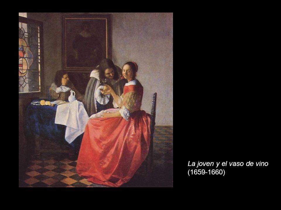 La joven y el vaso de vino (1659-1660)
