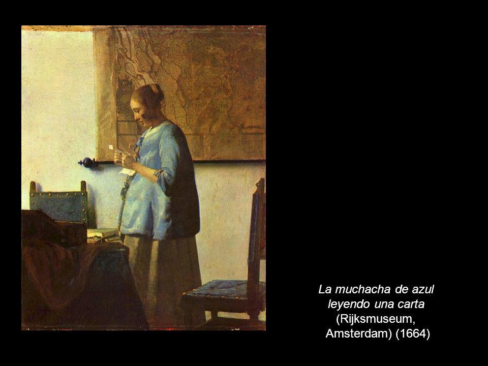 La muchacha de azul leyendo una carta (Rijksmuseum, Amsterdam) (1664)