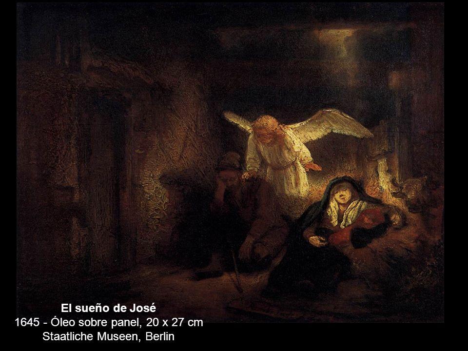 El sueño de José 1645 - Óleo sobre panel, 20 x 27 cm Staatliche Museen, Berlin