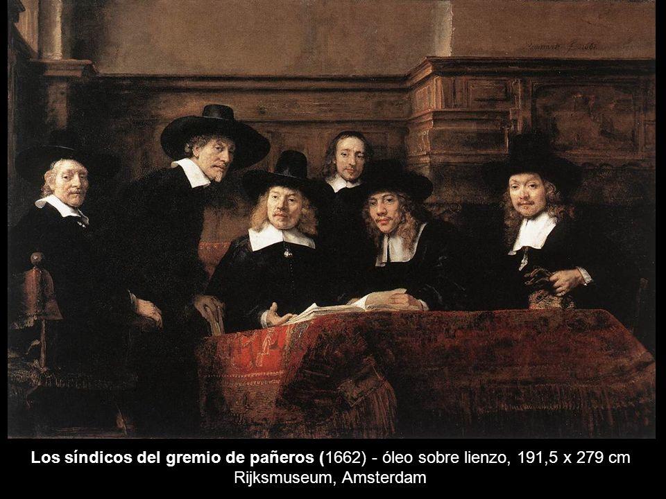 Los síndicos del gremio de pañeros (1662) - óleo sobre lienzo, 191,5 x 279 cm Rijksmuseum, Amsterdam