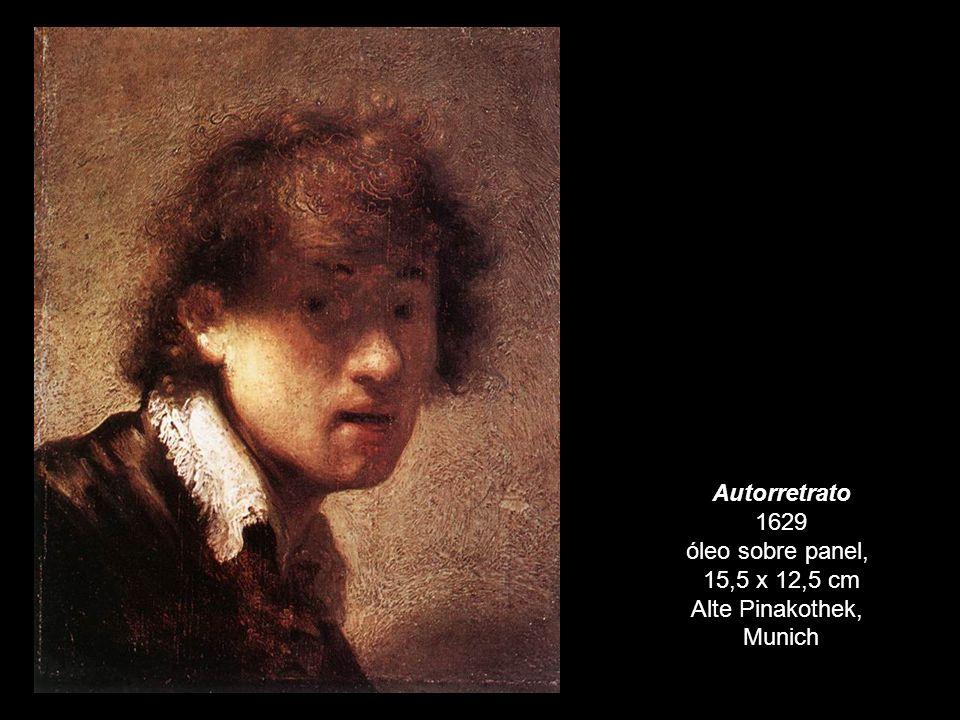 Autorretrato 1629 óleo sobre panel, 15,5 x 12,5 cm Alte Pinakothek, Munich