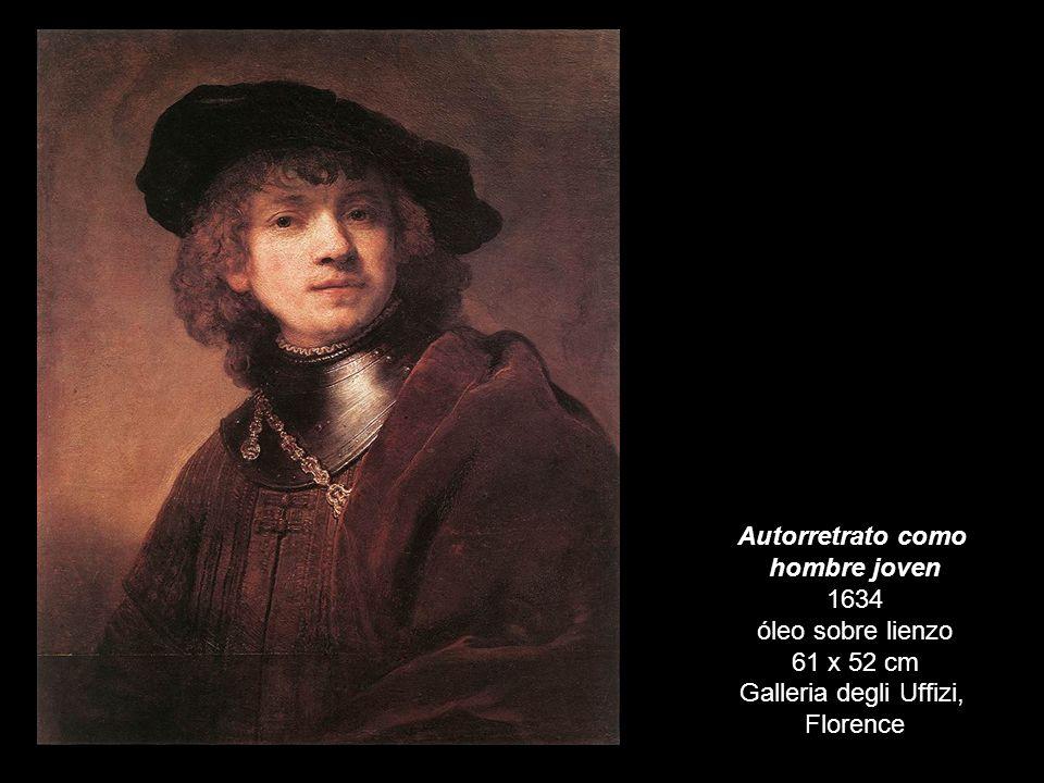 Autorretrato como hombre joven 1634 óleo sobre lienzo 61 x 52 cm Galleria degli Uffizi, Florence