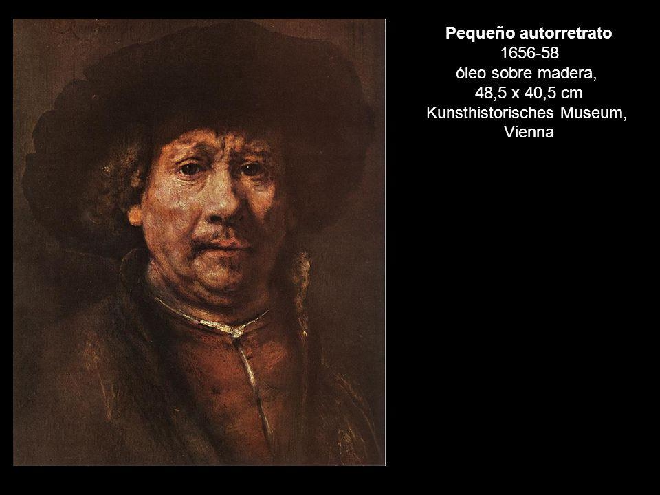 Pequeño autorretrato 1656-58 óleo sobre madera, 48,5 x 40,5 cm Kunsthistorisches Museum, Vienna