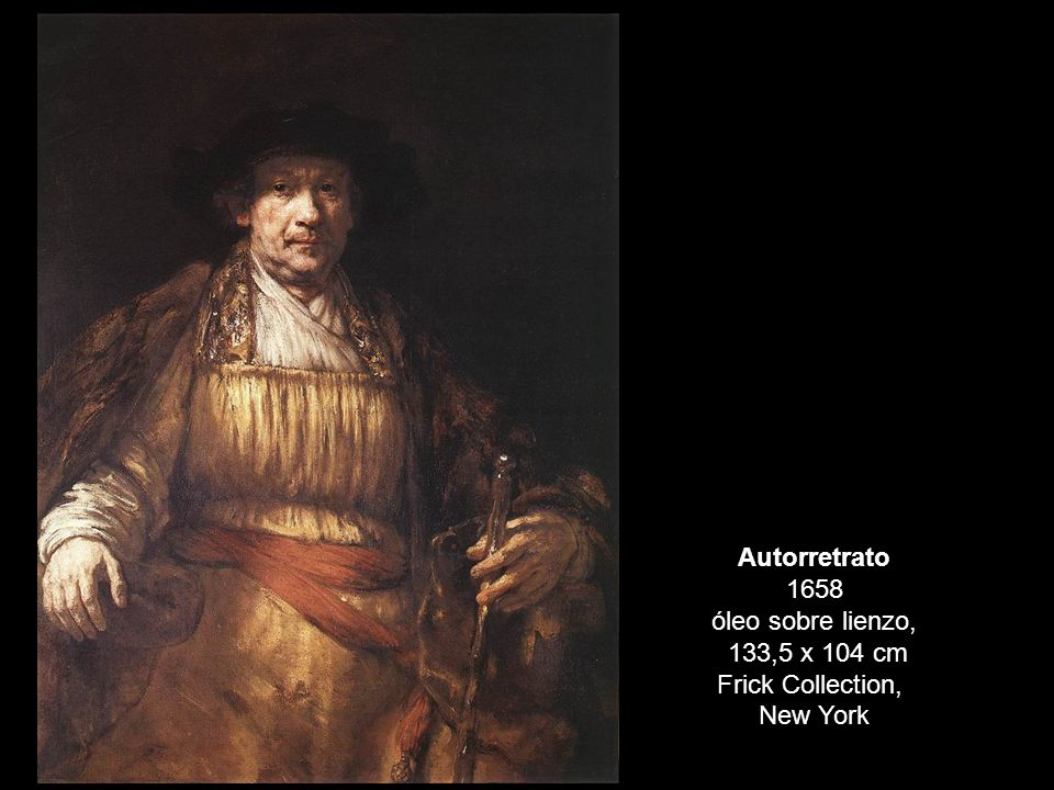 Autorretrato 1658 óleo sobre lienzo, 133,5 x 104 cm Frick Collection, New York
