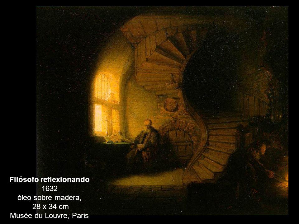 Filósofo reflexionando 1632 óleo sobre madera, 28 x 34 cm Musée du Louvre, Paris