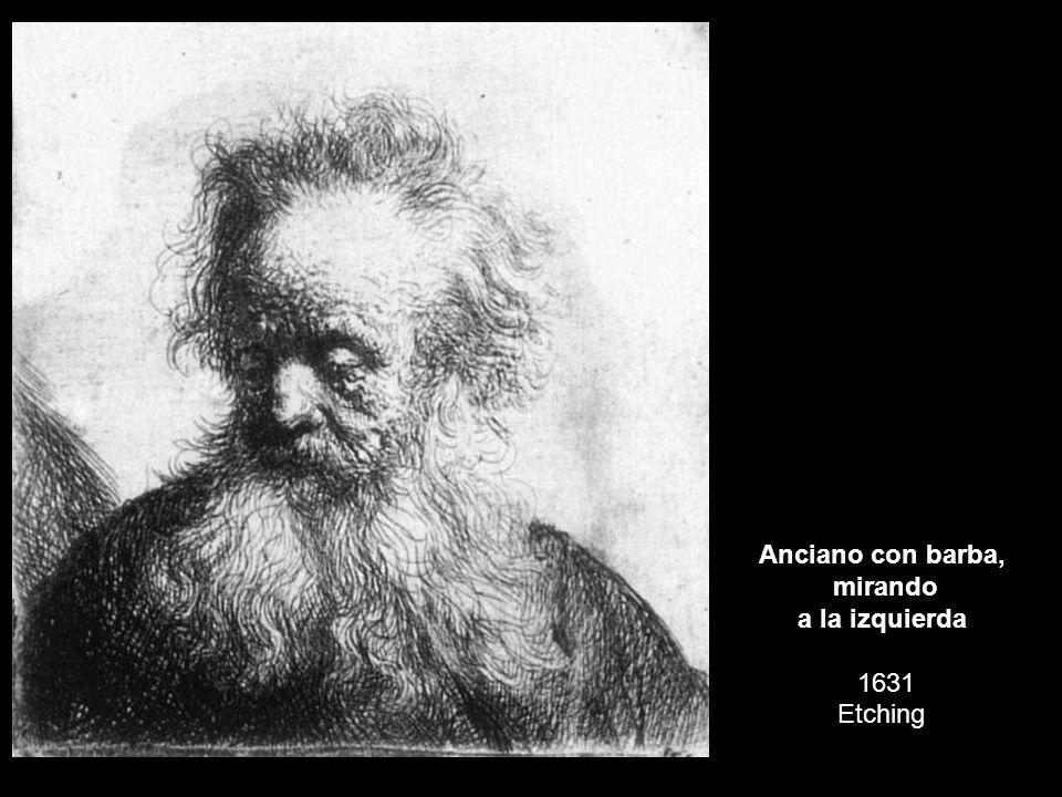 Anciano con barba, mirando a la izquierda 1631 Etching