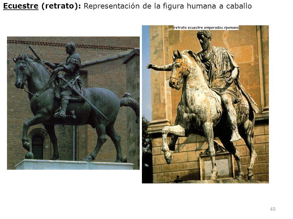 49 Ecuestre (retrato): Representación de la figura humana a caballo