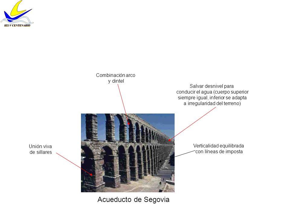 Puente de Alcántara Añadido renacentista Normalmente eran acodados pero éste es horizontal Seis ojos de tamaño diferente Gruesos pilares