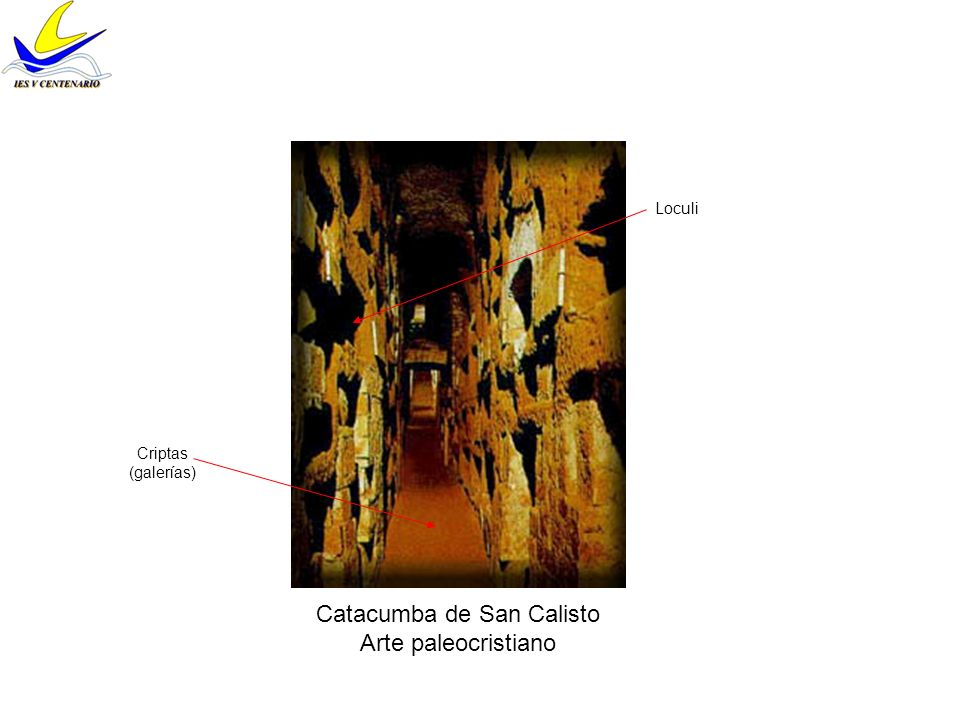 Catacumba de San Calisto Arte paleocristiano Loculi Criptas (galerías)