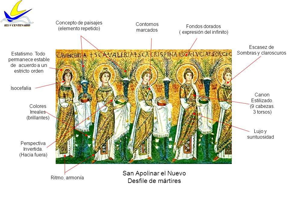 San Apolinar el Nuevo Desfile de mártires Colores Irreales (brillantes) Canon Estilizado. (9 cabezas. 3 torsos) Perspectiva Invertida. (Hacia fuera) C