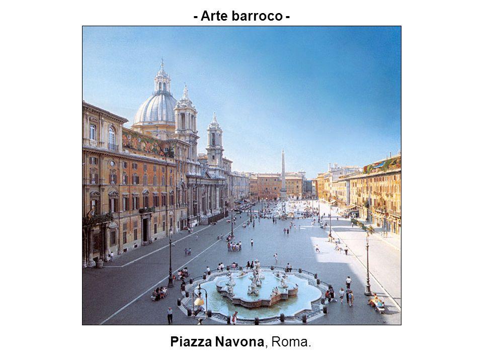 Piazza Navona, Roma (1644).En este lugar se alza el pequeño edificio de la familia Pamphili.
