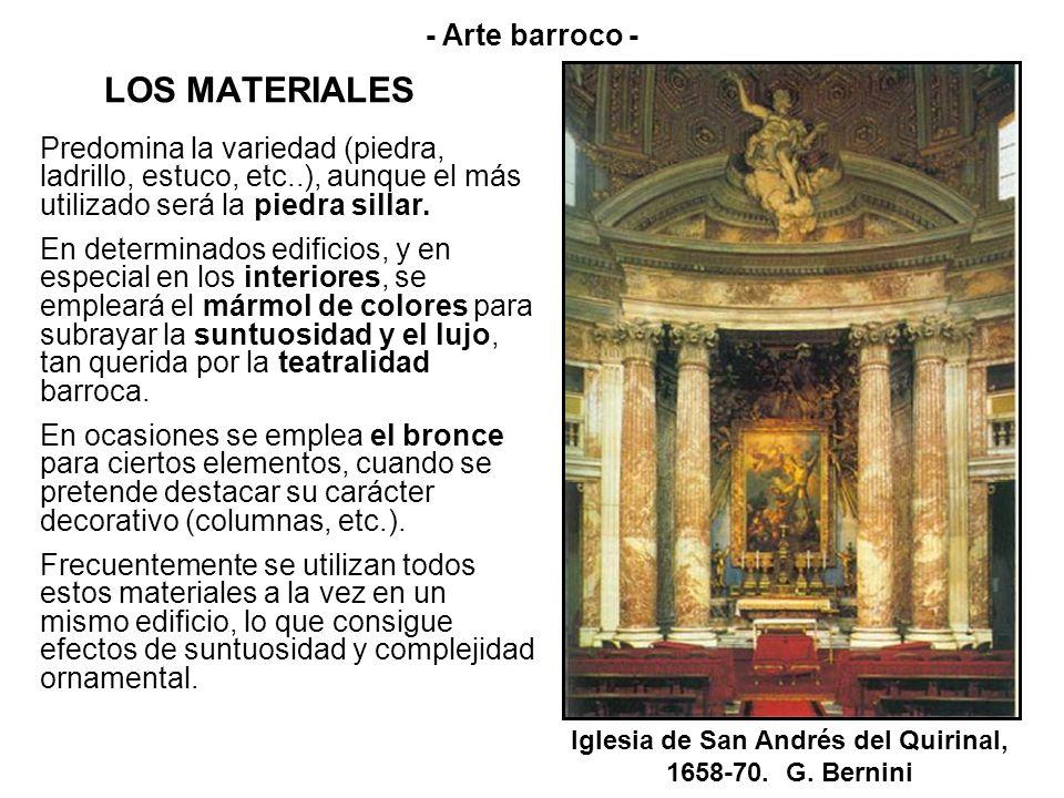 EL MURO - Arte barroco - El muro es el principal soporte y tiene en carácter dinámico; se ondula y modela, permitiendo plantas flexibles.