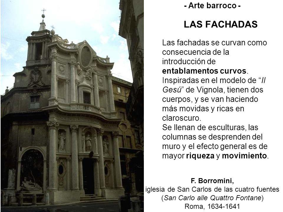 LAS FACHADAS F. Borromini, iglesia de San Carlos de las cuatro fuentes (San Carlo alle Quattro Fontane) Roma, 1634-1641 - Arte barroco - Las fachadas