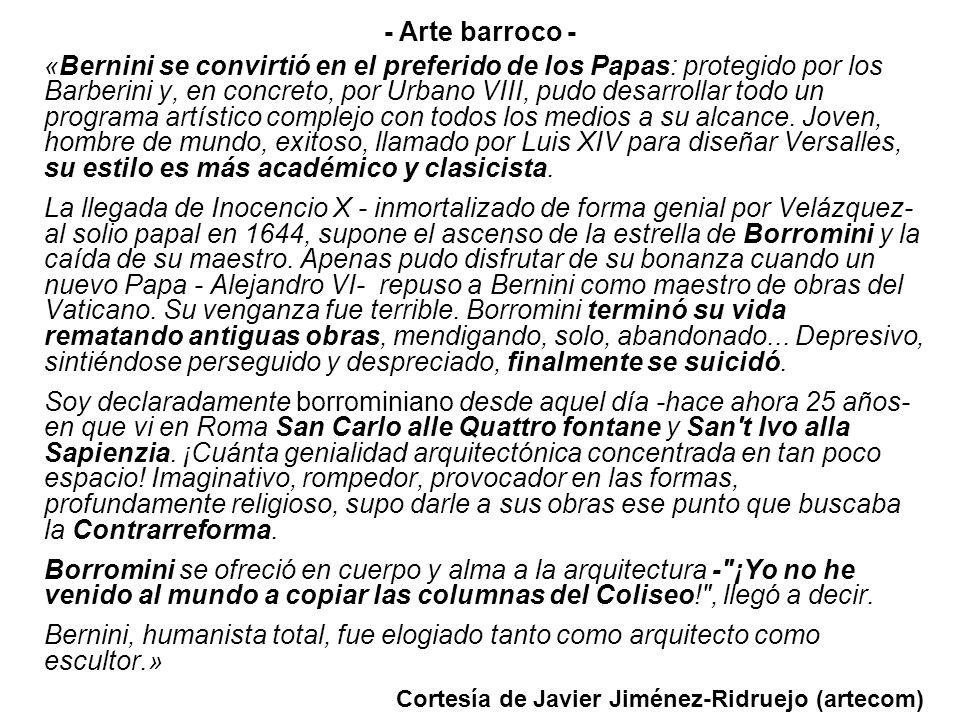 «Bernini se convirtió en el preferido de los Papas: protegido por los Barberini y, en concreto, por Urbano VIII, pudo desarrollar todo un programa art