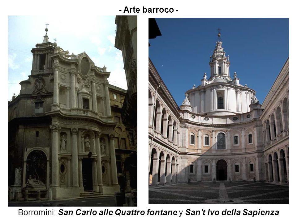 Borromini: San Carlo alle Quattro fontane y San't Ivo della Sapienza - Arte barroco -