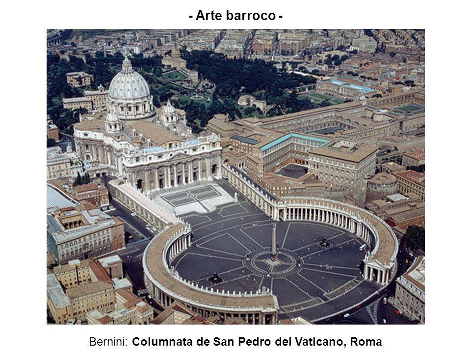 Bernini: Columnata de San Pedro del Vaticano, Roma - Arte barroco -