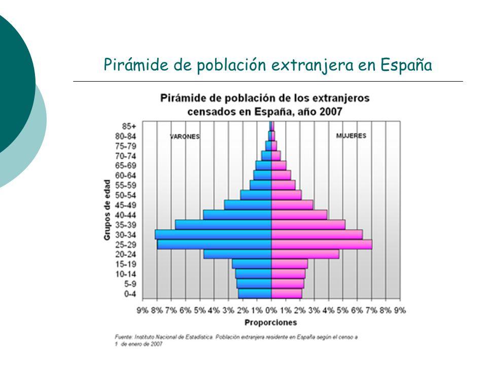 Pirámide de población extranjera en España