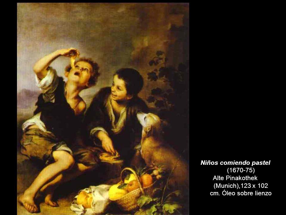 Niños comiendo pastel (1670-75) Alte Pinakothek (Munich),123 x 102 cm. Óleo sobre lienzo