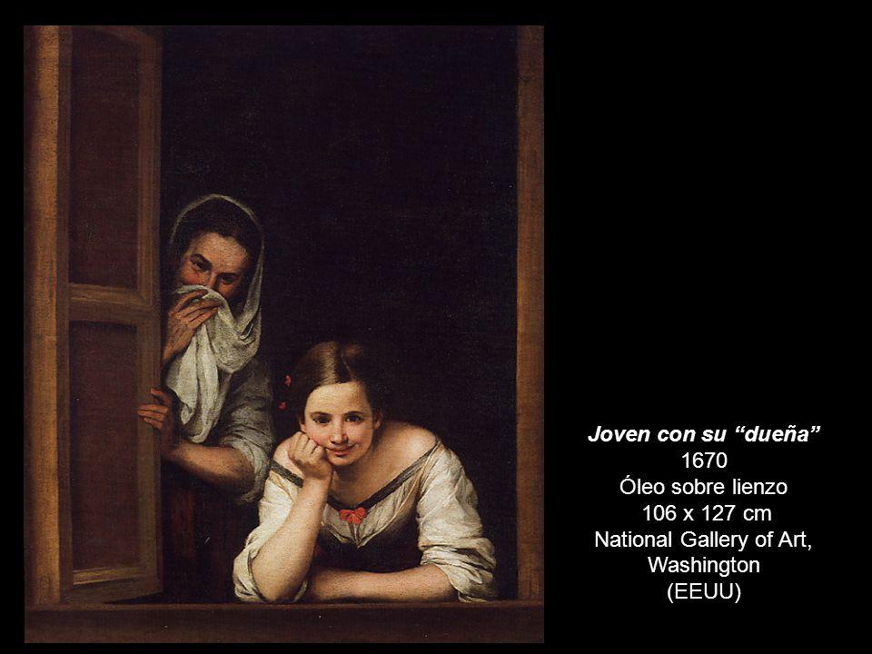 DOS MUJERES EN LA VENTANA Joven con su dueña 1670 Óleo sobre lienzo 106 x 127 cm National Gallery of Art, Washington (EEUU)