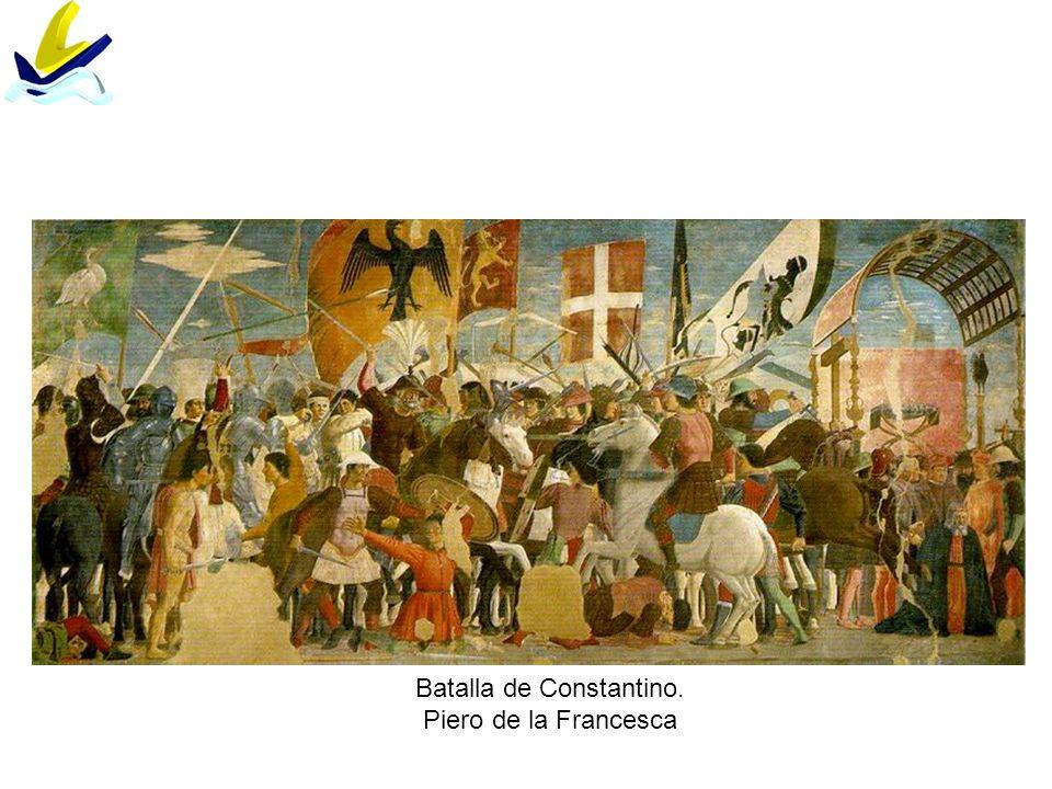 Batalla de Constantino. Piero de la Francesca