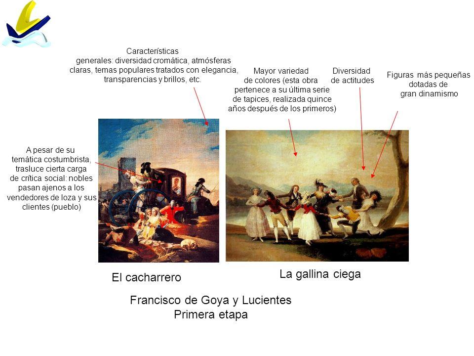 El cacharrero La gallina ciega Francisco de Goya y Lucientes Primera etapa Características generales: diversidad cromática, atmósferas claras, temas p
