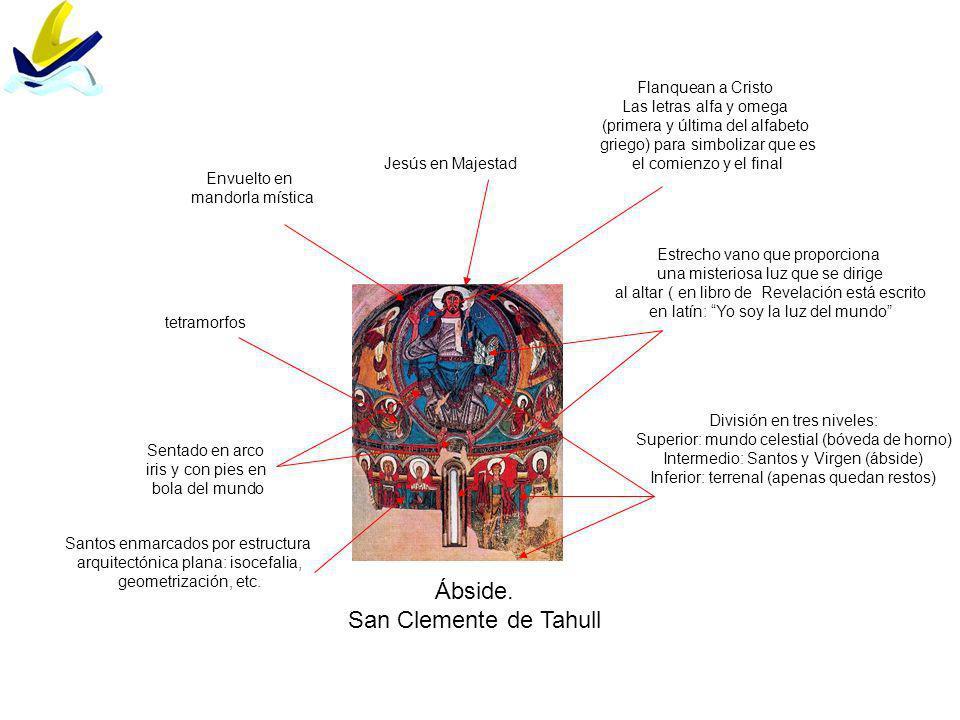 Santa María de Tahull. Ábside Virgen trono de Dios Epifanía (adoración de los Magos