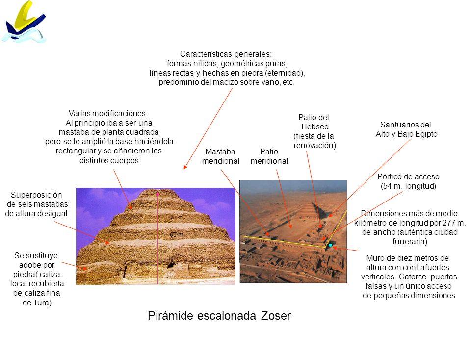 Pirámides de GizehEsquema interior de pirámide de Keops Pirámide de base cuadrada Orientación hacia los cuatro puntos cardinales con sólo un error de 3´36´´ 146`59 m.