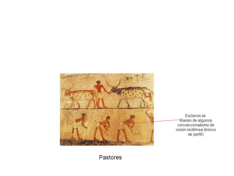 Tumba Nebamón Caza en los pantanos Caza ritual con boomerang en pantanos Características generales: visión rectilínea, perspectiva jerárquica, jeroglífico intercalados, contorno del dibujo, colores planos, etc.