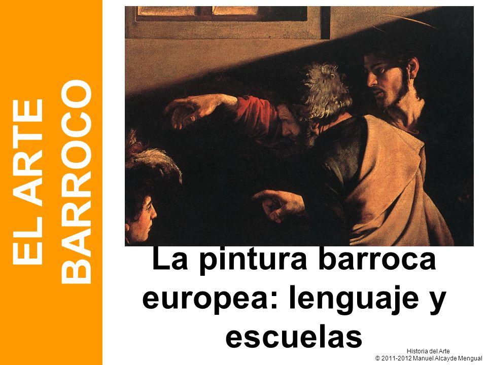 La pintura barroca europea: lenguaje y escuelas EL ARTE BARROCO Historia del Arte © 2011-2012 Manuel Alcayde Mengual