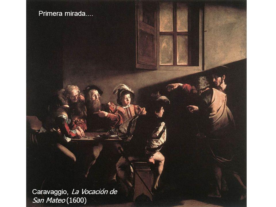Naturalista:Naturalista: Detalle de La vocación de San Mateo. Caravaggio, 1600