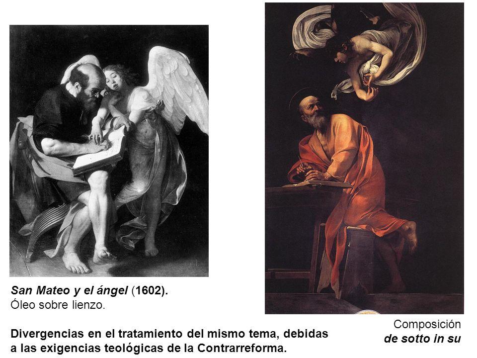 San Mateo y el ángel (1602).Óleo sobre lienzo.