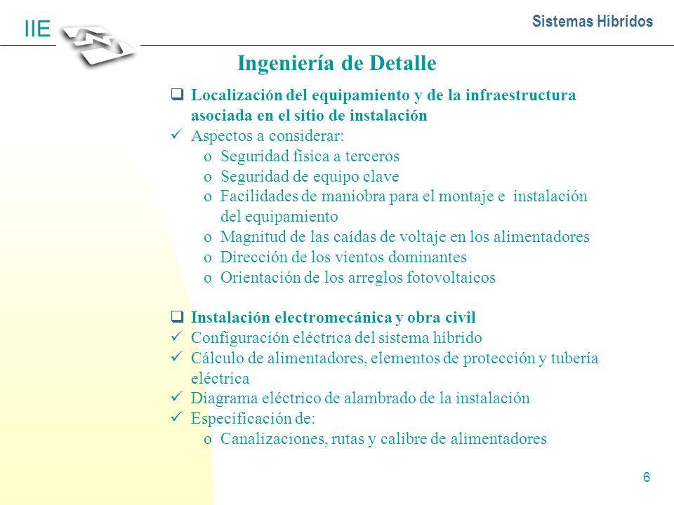 7 Sistemas Híbridos IIE Ingeniería de Detalle continuación...