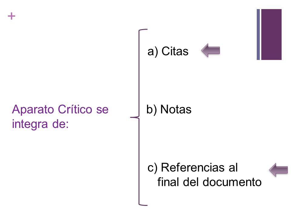 + ¿Cómo citar documentos.