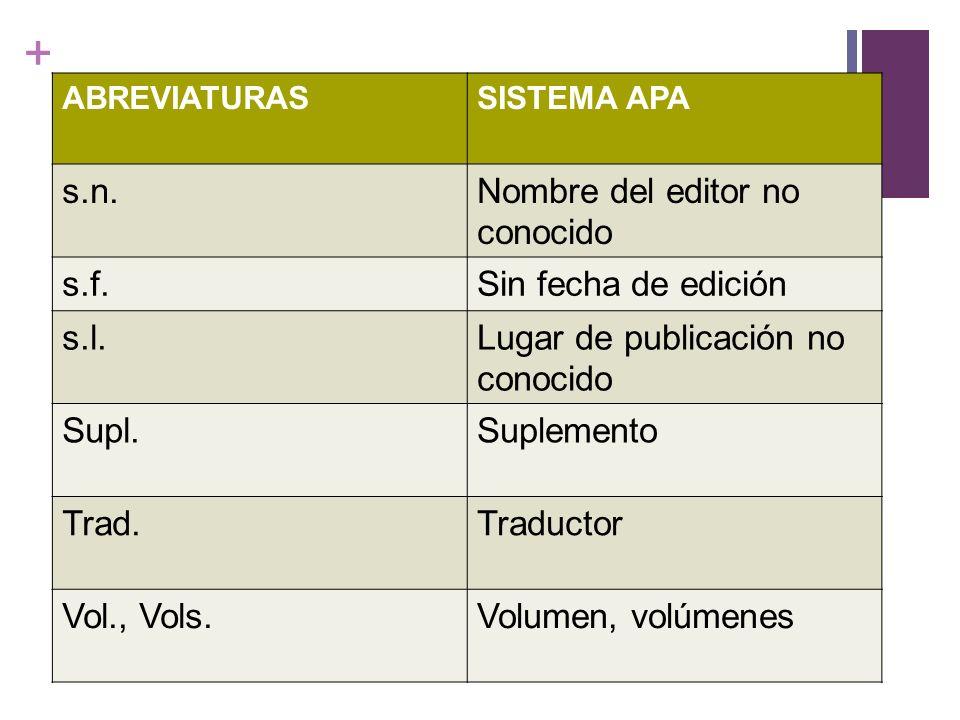 + Libro (referencia en el desarrollo del texto) SISTEMA CLÁSICO Apellidos, nombre del autor (coord., ed.