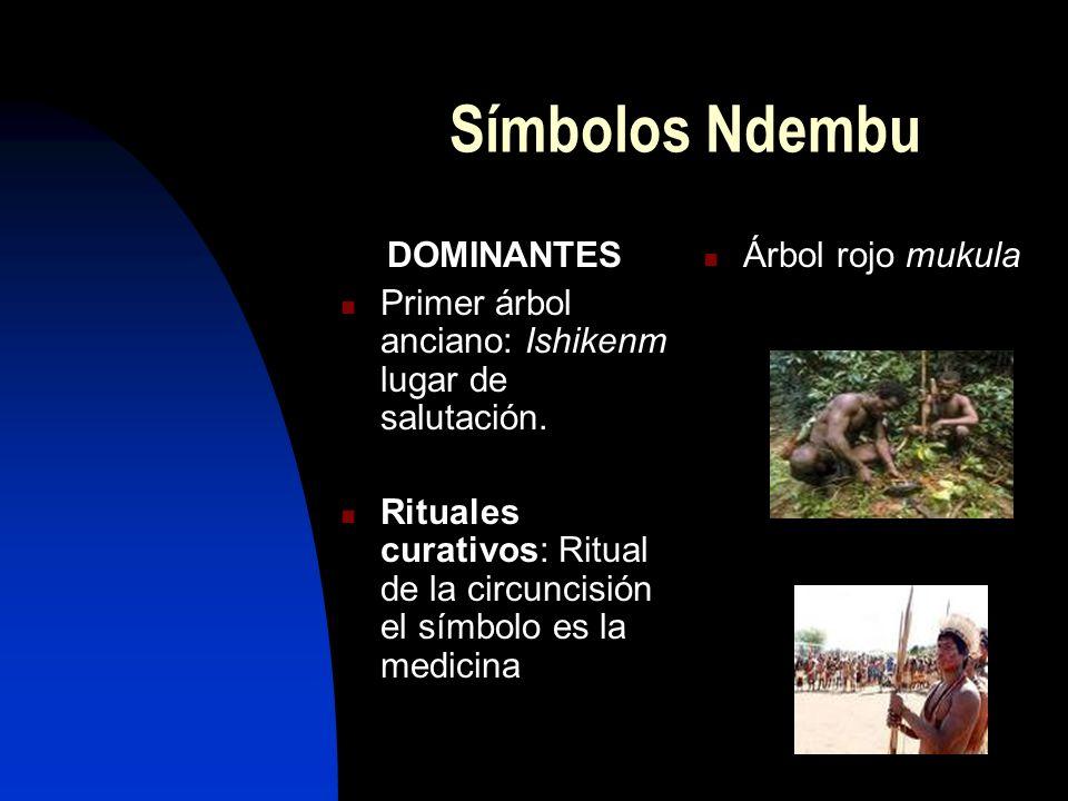 Símbolos Ndembu DOMINANTES Primer árbol anciano: Ishikenm lugar de salutación.