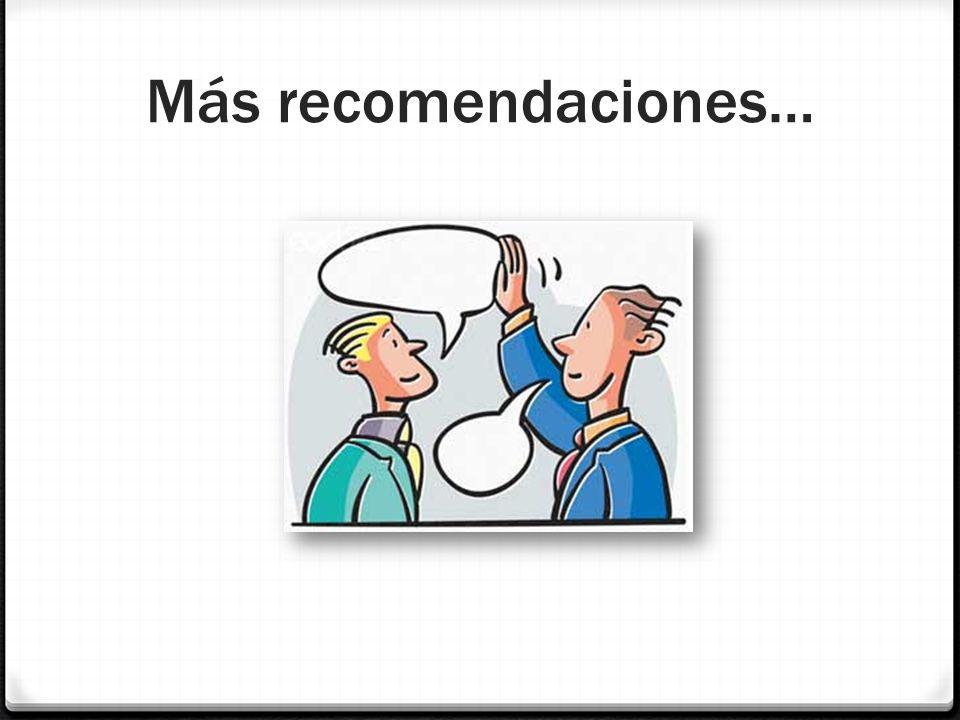 Más recomendaciones…