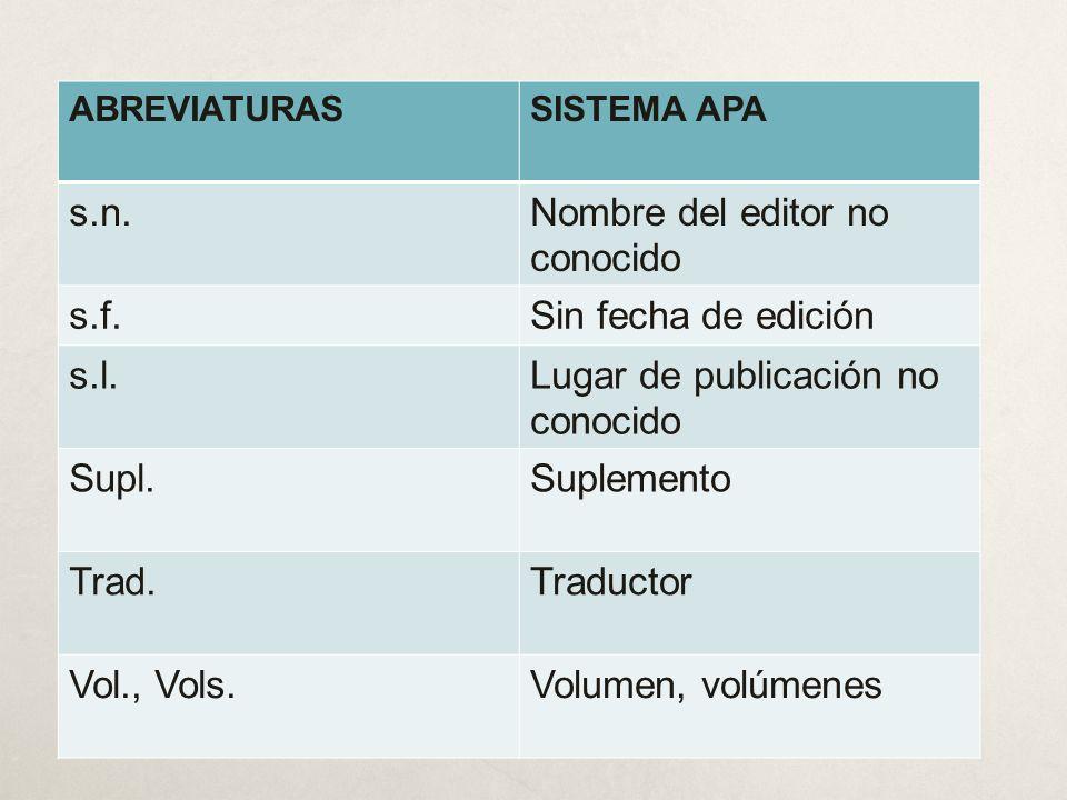 Libro (referencia en el desarrollo del texto) SISTEMA CLÁSICO Apellidos, nombre del autor (coord., ed.