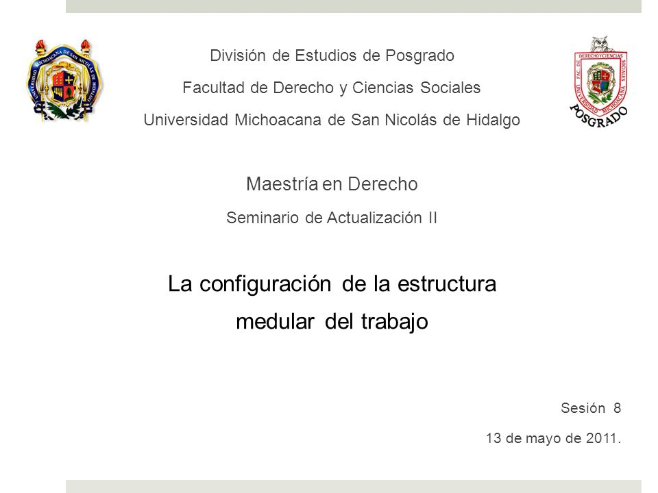 División de Estudios de Posgrado Facultad de Derecho y Ciencias Sociales Universidad Michoacana de San Nicolás de Hidalgo Maestría en Derecho Seminari