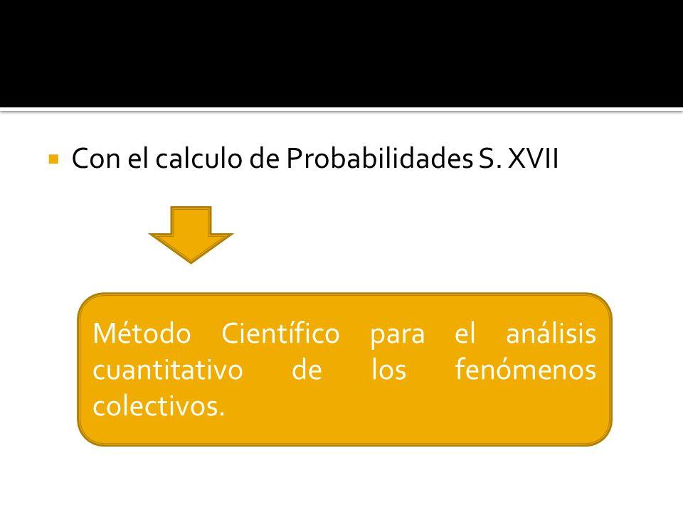 La ciencia que estudia los fenómenos colectivos con métodos matemáticos, basados en el calculo de probabilidades.
