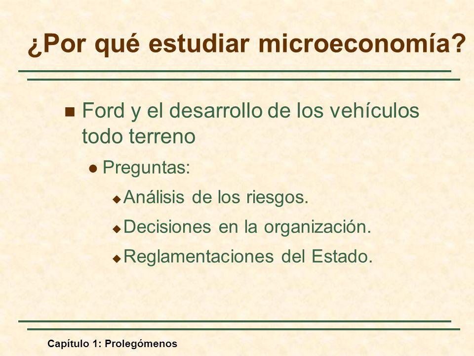 Capítulo 1: Prolegómenos Ford y el desarrollo de los vehículos todo terreno Preguntas: Análisis de los riesgos. Decisiones en la organización. Reglame