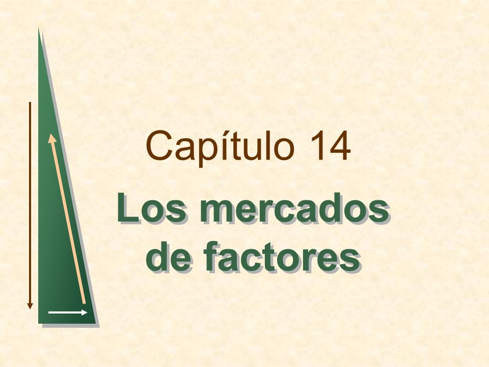 Capítulo 14 Los mercados de factores