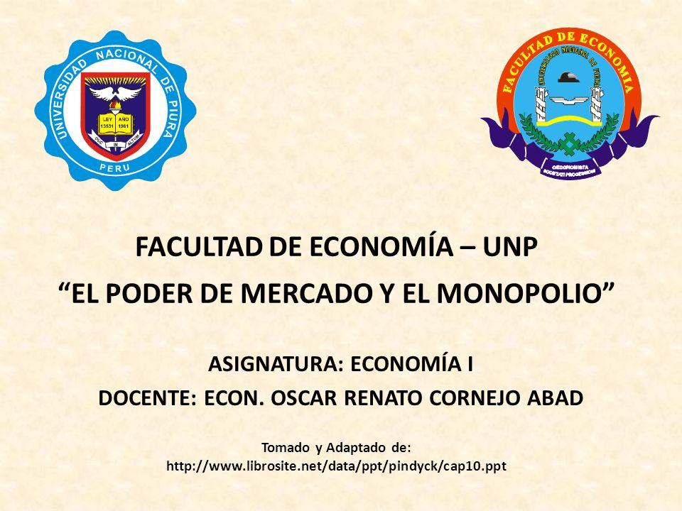 Capítulo 10: El poder de mercado: el monopolio y el monopsonio La decisión de producción del monopolista 1)Los beneficios se maximizan hasta el nivel de producción, donde IM = CM.