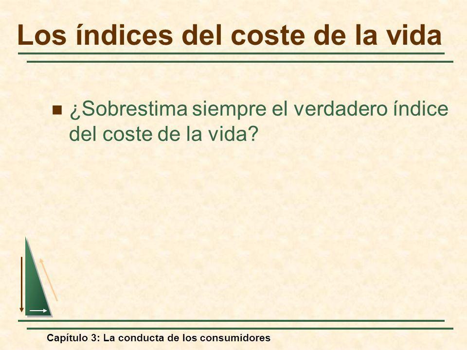 Capítulo 3: La conducta de los consumidores ¿Sobrestima siempre el verdadero índice del coste de la vida? Los índices del coste de la vida
